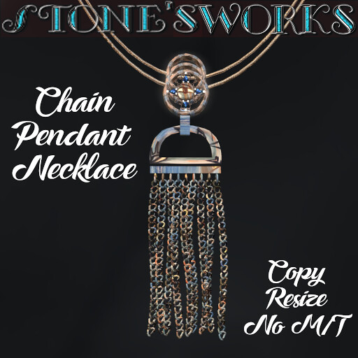 Chain Pendant Necklace Stone's Works
