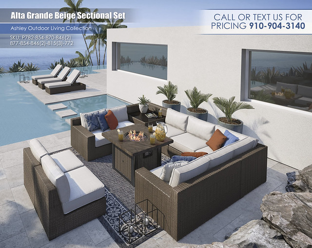 Alta Grande Beige Outdoor Sectional_CallForPricing_P782-854-870-846(2)-877-854-846(2)-815(3)-772