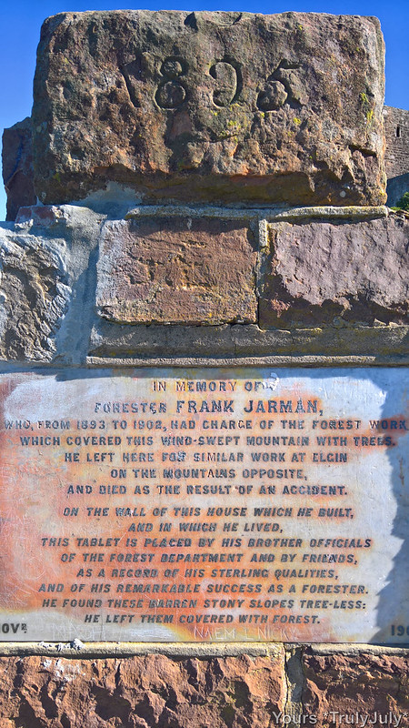 A plaque honouring Forester Frank Jarman at the King's Blockhouse.