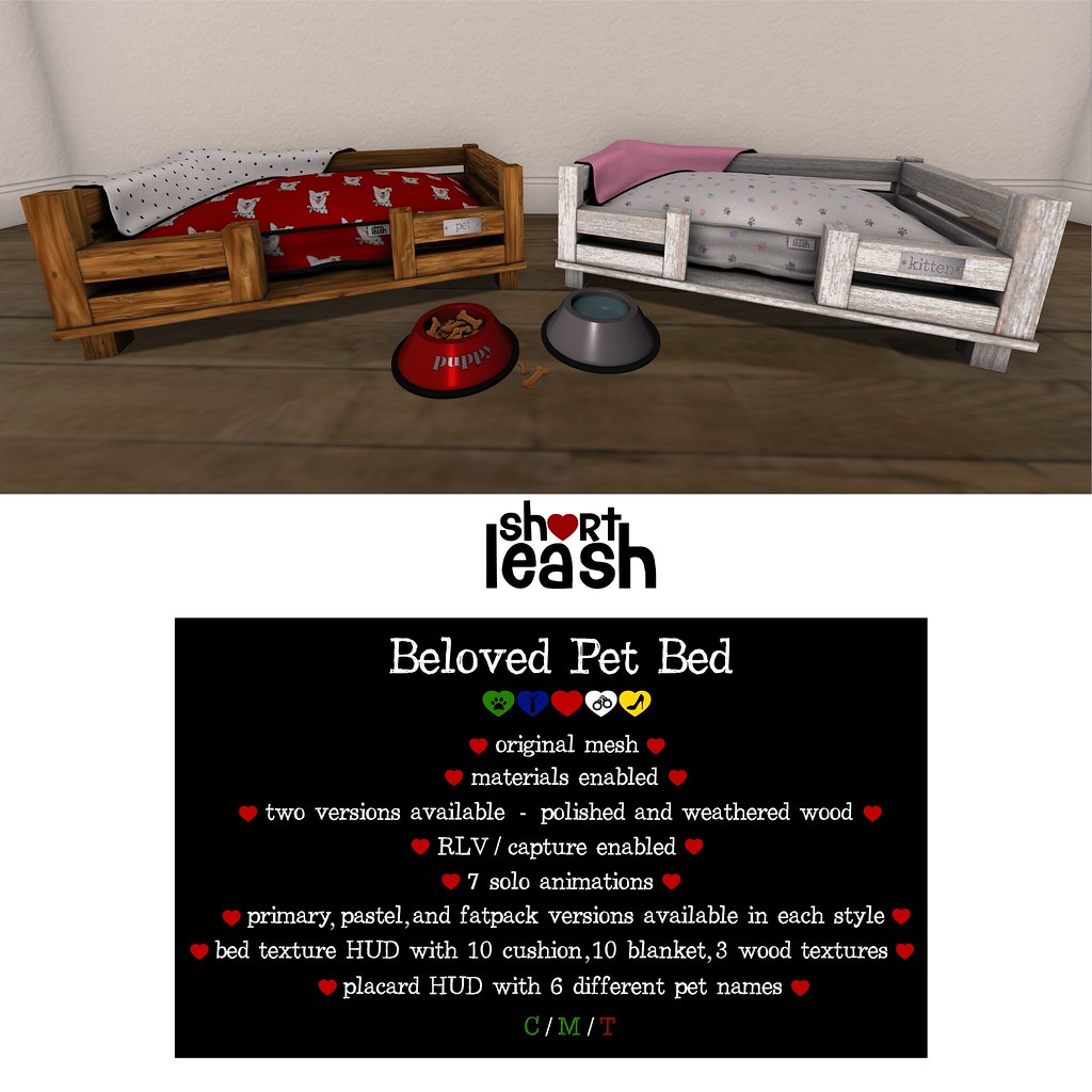 .:Short Leash:. Beloved Pet Bed