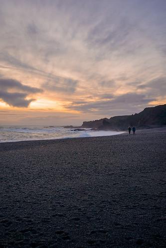 Sunset walk along Djúpalónsandur Beach - Snæfellsnes Peninsula Tour. Photographer Scott Drummond