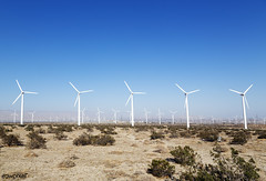 Wind turbines in the California desert. Original image from Carol M. Highsmith's America, Library of Congress collection. Digitally enhanced by rawpixel.