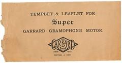 Garrard Super Gramophone Motorf