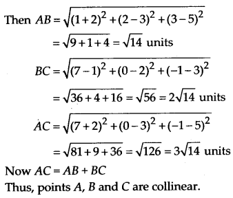 NCERT Solutions for Class 11 Maths Chapter 12 Introduction to Three Dimensional Geometry 1