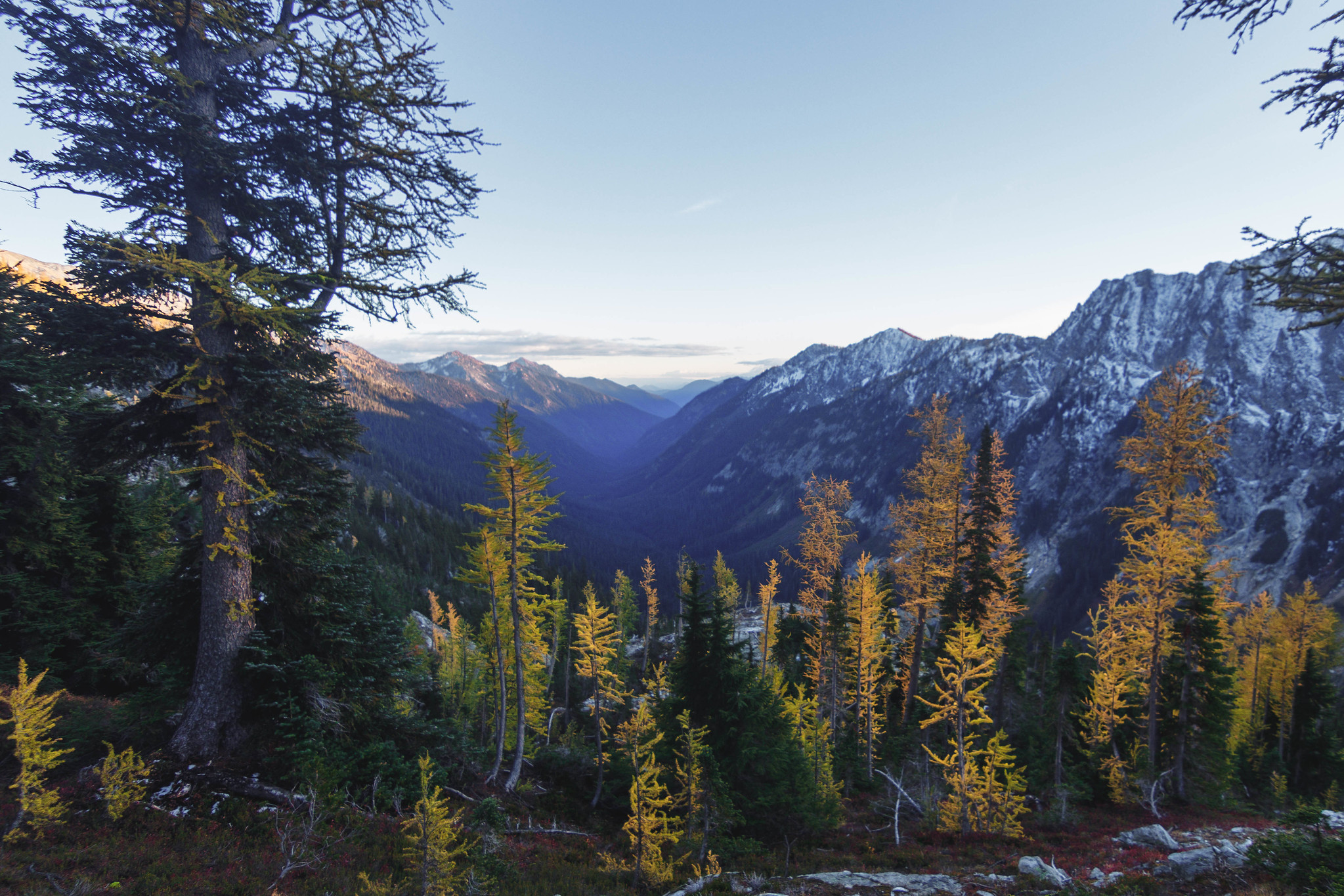 Phelps Creek Valley before sunset
