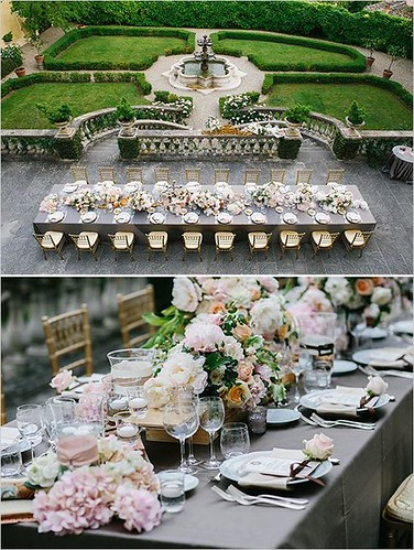 Weddings Flower Arrangements : Romantic and regal wedding ideas. Italian destination wedding.