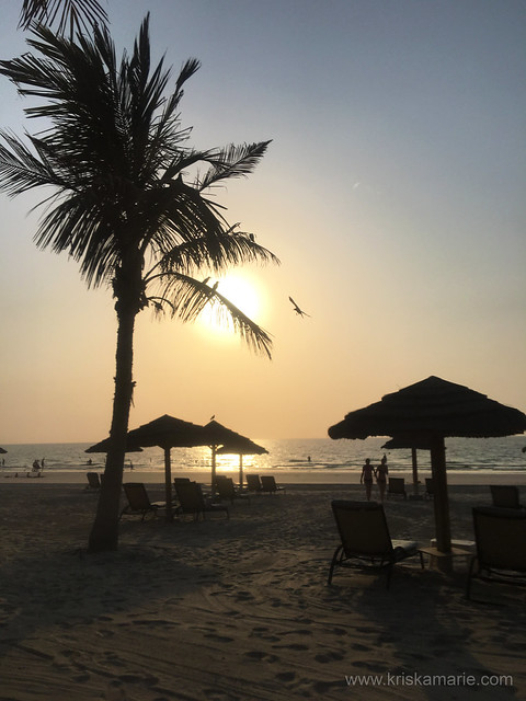 Sunset at Ajman Hotel