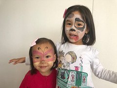 Facepainting on a rainy day
