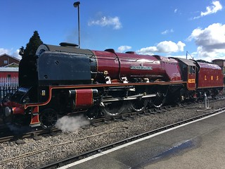 6233 Duchess of Sutherland at Kidderminster