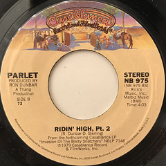 PARLET:RIDIN' HIGH(LABEL SIDE-B)