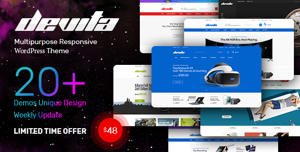Devita v1.0  – Multipurpose Responsive Magento Theme 20+ Demos
