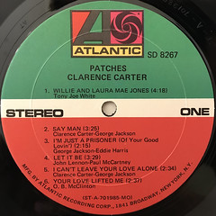 CLARENCE CARTER:PATCHES(LABEL SIDE-A)
