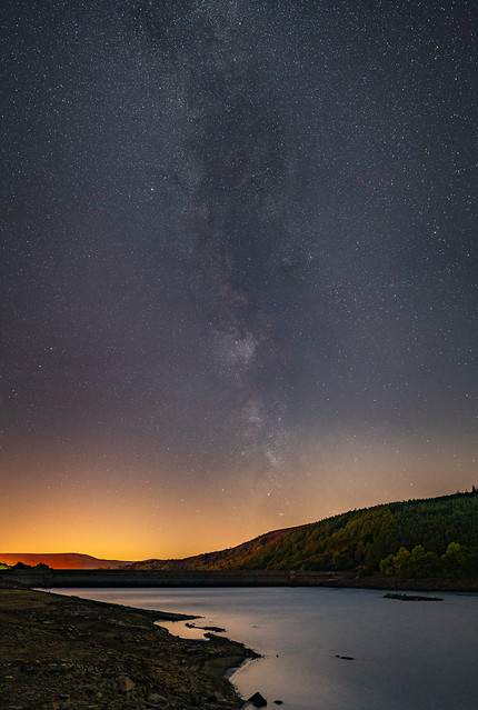 Milky way over Lady Bower