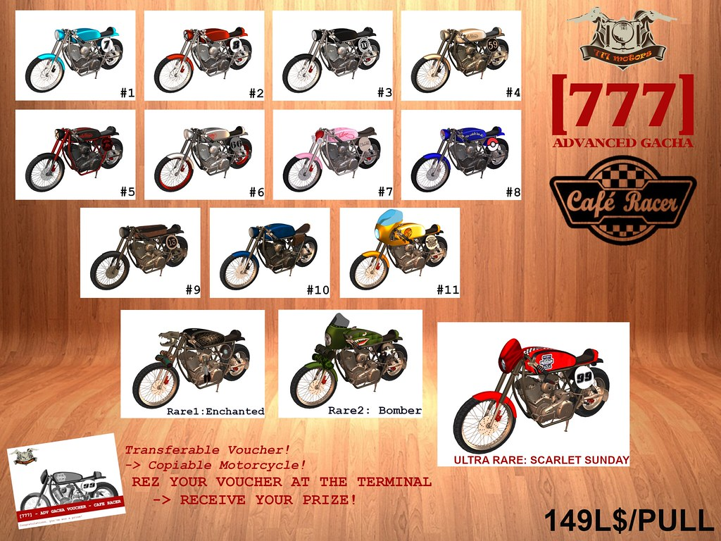 [777] Advanced Cafe Racer Gacha! - TeleportHub.com Live!