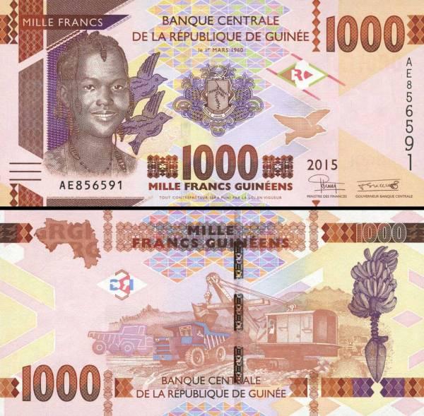1000 Frankov Guinea 2015, P48