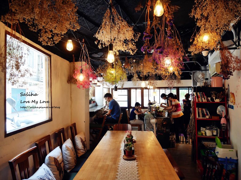 新店小碧潭站食尚玩家推薦乾燥花文青餐廳咖啡在家吃飯 (9)