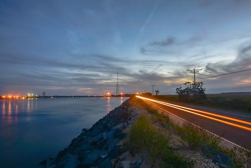 oceandrive corsons corsonsinlet nj newjersey lighttrails longexposure dusk