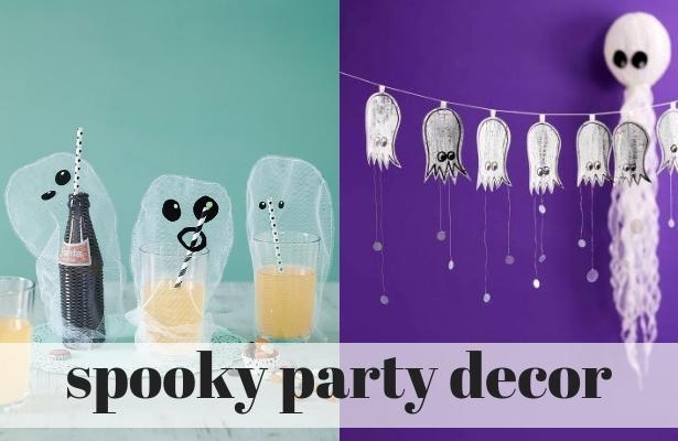 spooky party decor