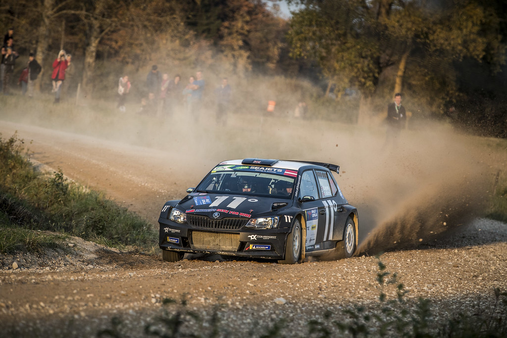 11 INGRAM Chris, (GBR), Ross WHITTOCK, (GBR), TOKSPORT WRT, Skoda Fabia R5, Action during the 2018 European Rally Championship ERC Liepaja rally,  from october 12 to 14, at Liepaja, Lettonie - Photo Gregory Lenormand / DPPI