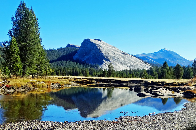 Lembert Dome Reflection, Tuolumne River, Yosemite 10-8-18