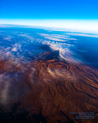 Looking Down at Altostratus Clouds From 24K Feet