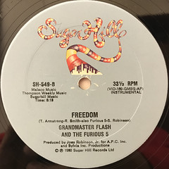 GRANDMASTER FLASH AND THE FURIOUS 5:FREEDOM(LABEL SIDE-B)