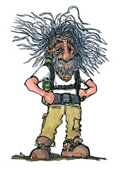 illustration-old-hiker-hiking-drawing-by-frits-ahlefeldt