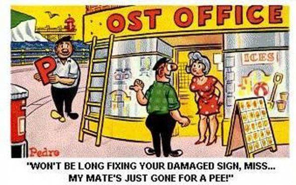 British comic seaside postcard