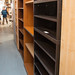 Dark wood laminate 5 shelf unit E140