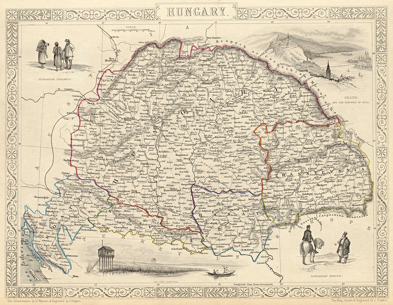 John Tallis - Hungary (1851)