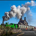 Getting up steam at Cheddleton Crossing