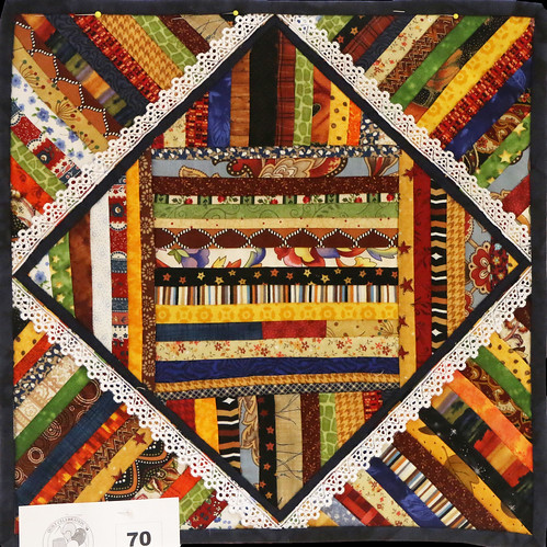 70: String Quilt with Lace - Kathy Beguin