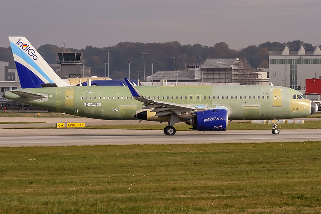 D-AVVM IndiGo Airbus A320-271N - msn 8527/VT-Ixx @ Airbus factory Hamburg Finkenwerder (XFW / EDHI) / 09.10.2018 www.runway18.de