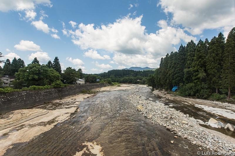 Naturaleza que rodea la línea Akita Nairiku