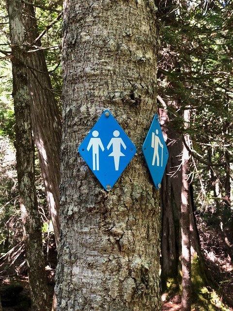 Lake Superior Park Sand river washroom sign