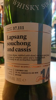 SMWS 37.111 - Lapsang souchong and cassis