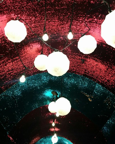 Lights (1) #toronto #tunnelofglam #yongeandstclair #tunnel #sequin #red #blue #lights