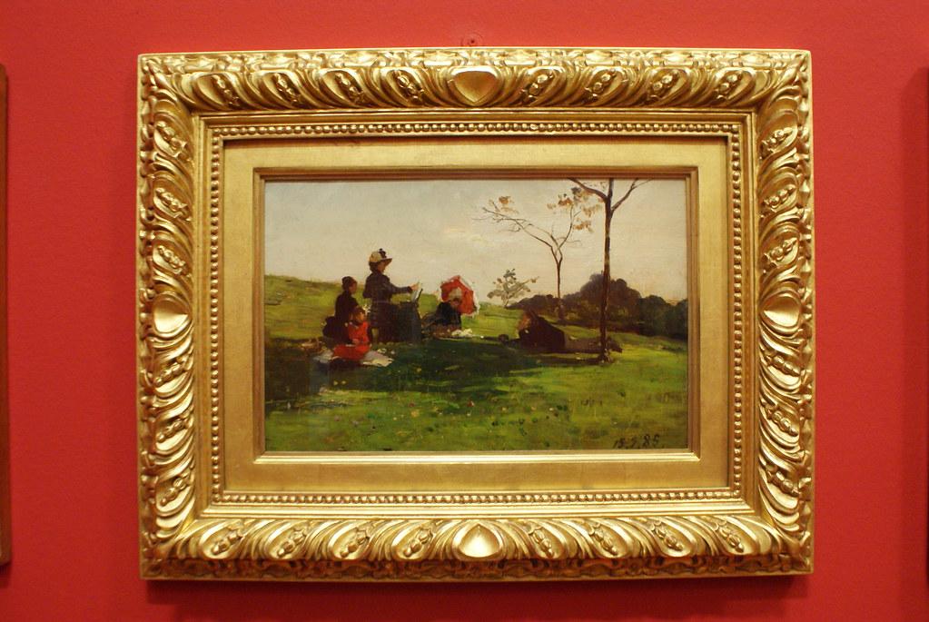 """Le allieve"" (1885) de Lorenzo Delleani - GAM, musée d'art moderne de Turin."