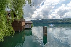 Boatshouse on Lake  Hallwil