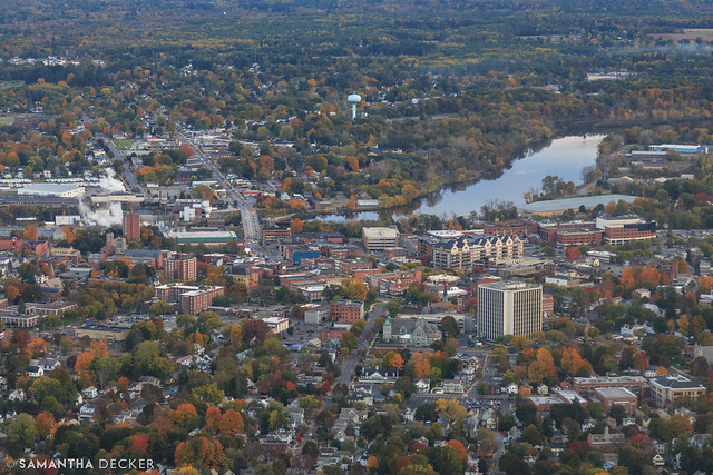 Flying Over Glens Falls