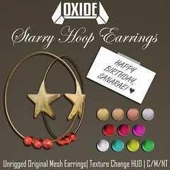 OXIDE Starry Hoop Earrings