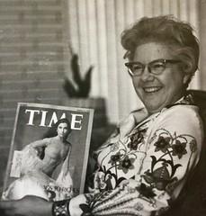 Gloria with Time Magazine