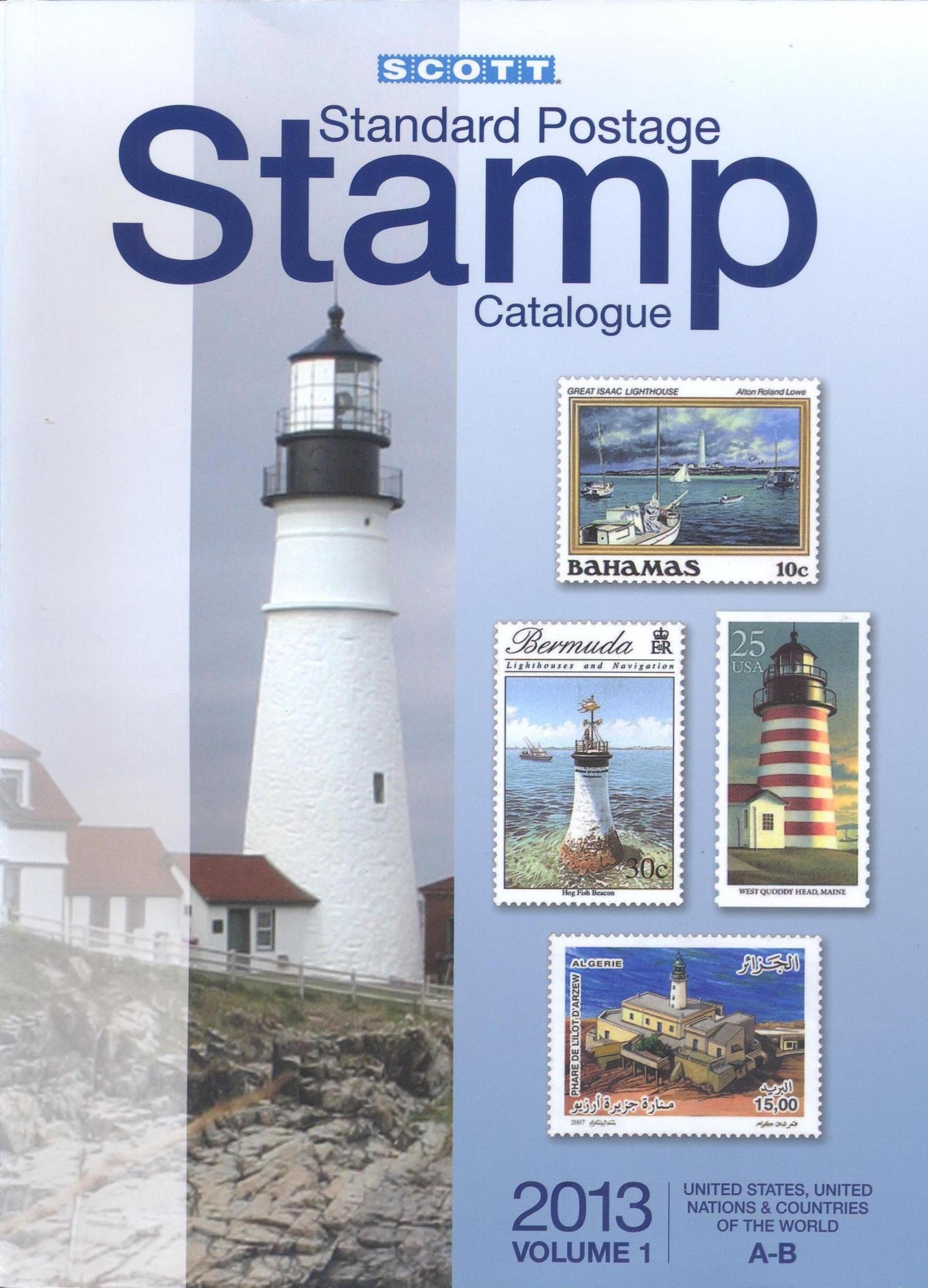 Scott Standard Postage Stamp Catalogue Volume 1, 2013 edition