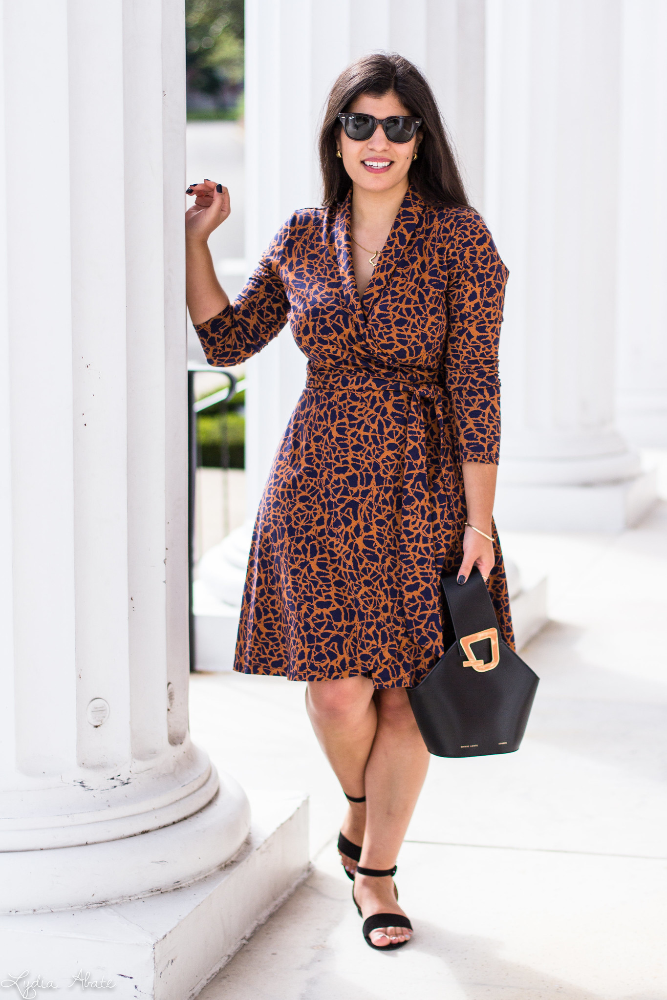 printed wrap dress, danse lente johnny bag, black strappy sandals-7.jpg