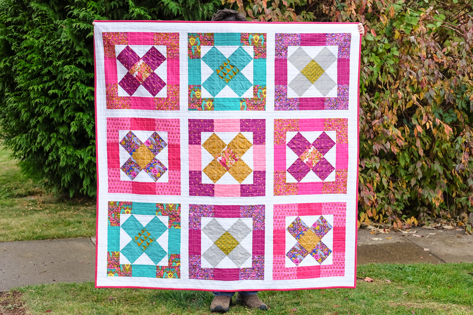 Kriss Cross in Road Trip - Modern Quilts Block by Block Book Tour