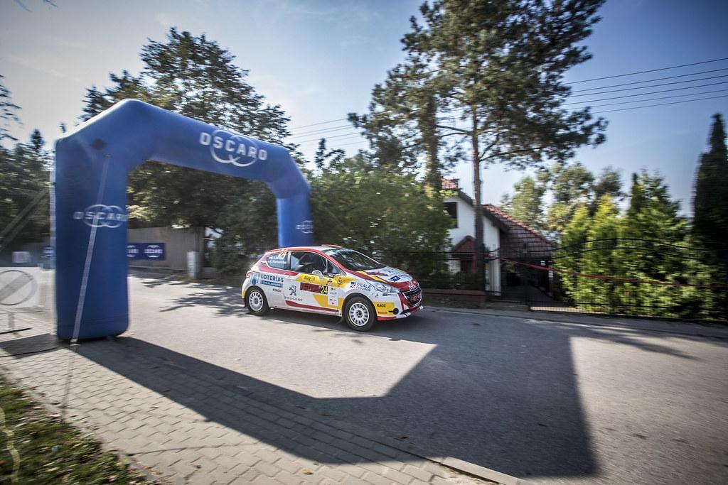 24 LLARENA Efren (ESP), FERNANDEZ Sara (ESP), RALLY TEAM SPAIN, Peugeot 208 R2, action during the 2018 European Rally Championship PZM Rally Poland at Mikolajki from September  21 to 23 - Photo Gregory Lenormand / DPPI