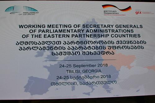 25.09.2018 Reuniunea Secretarilor generali din țările Parteneriatului Estic, Georgia