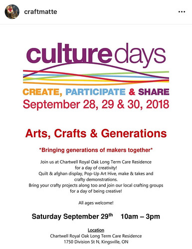 Culture Days is this weekend!