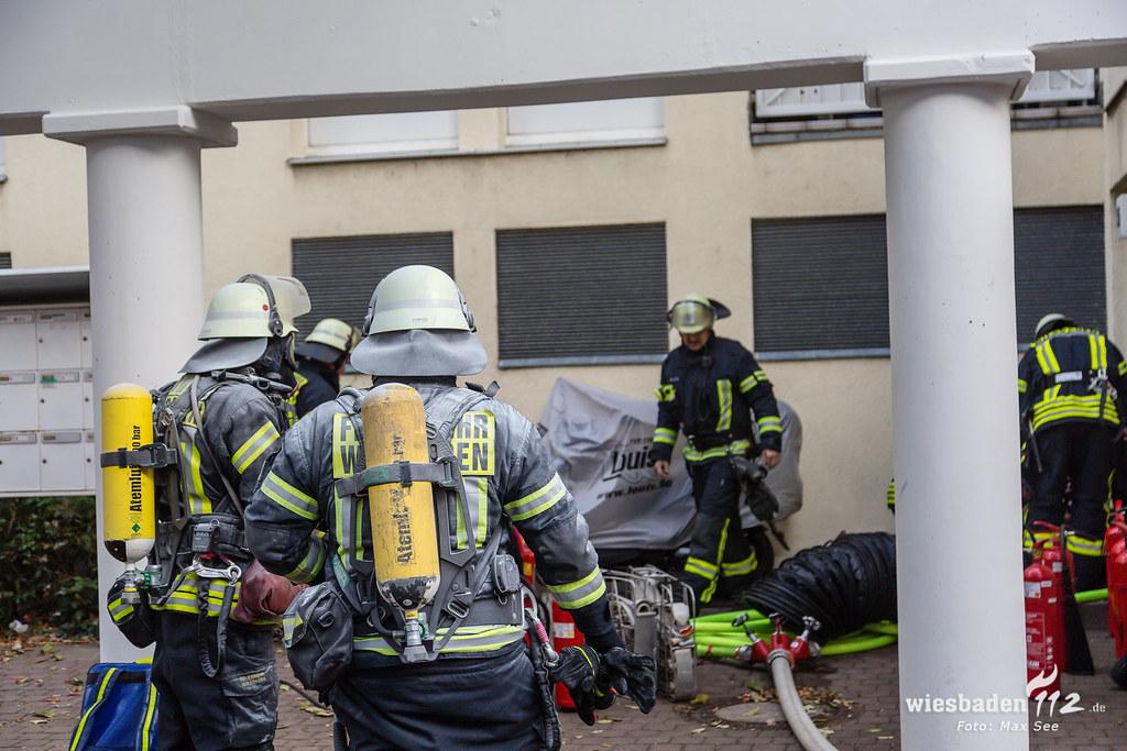 Feuer Elektroraum Kostheim 01.10.18