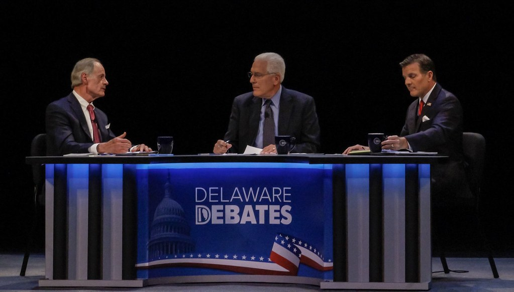 Arlett takes hits at Carper in Senate debate